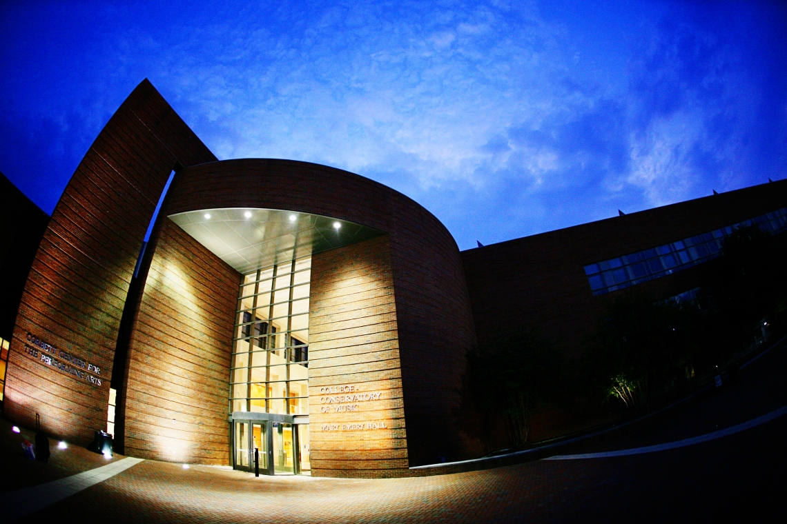 Corbett Center Night Fisheye