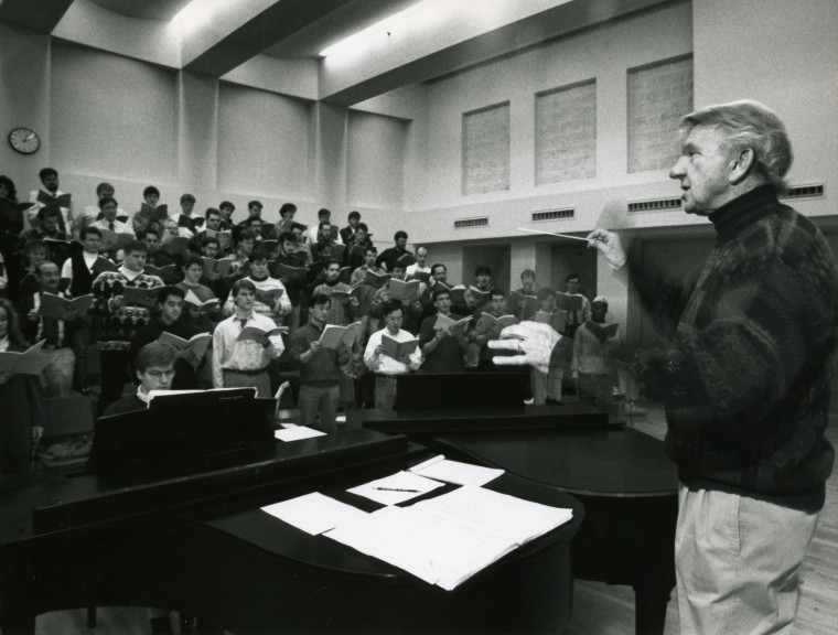 CCM Professor Emeritus Elmer Thomas; photo by Sandy Underwood