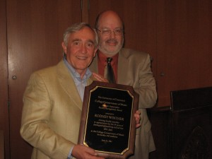 Rodney Winther with CCM Interim Dean Frank Weinstock.