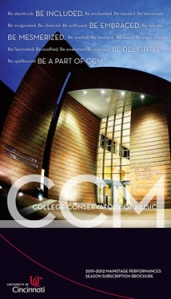 CCM's 2011-12 Season Brochure