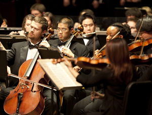 The CCM Philharmonia Orchestra. Photography by UC Photographic Services.