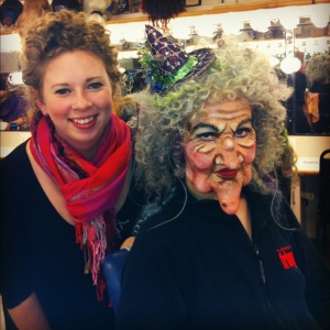 Kaitlyn Adams with INTO THE WOODS' Witch, played by Victoria Cook.