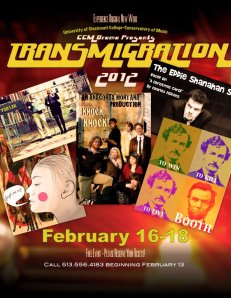 The 2012 TRANSMIGRATION Festival, running Feb. 16-18 at UC's College-Conservatory of Music.