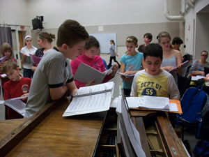 CCM Prep students rehearse the music for 'A Year With Frog and Toad,' presented March 17 and 18 in Patricia Corbett Theater.