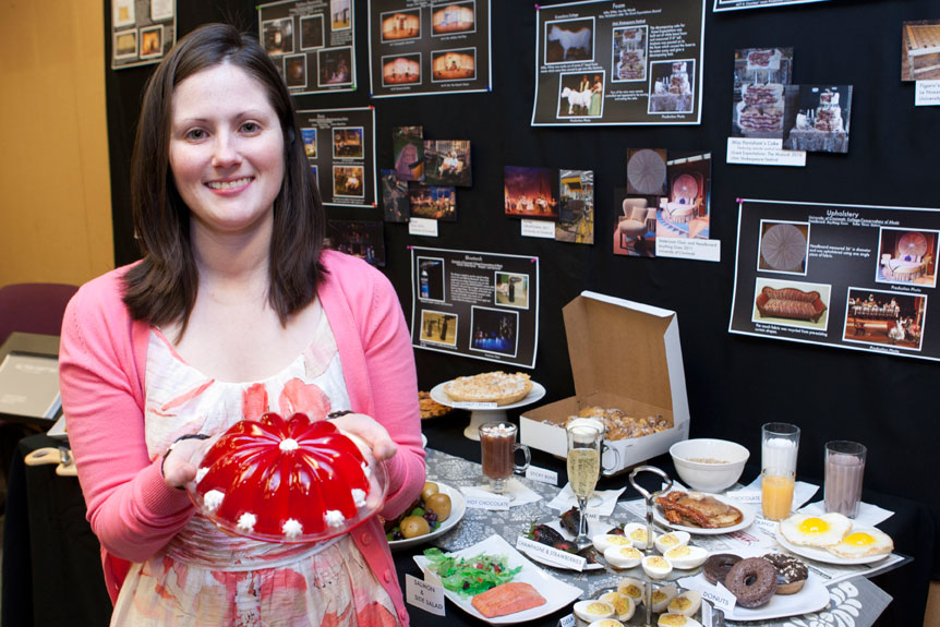 "MFA candidate Karestin Harrison presents her ""Fake Food Feast"" project."