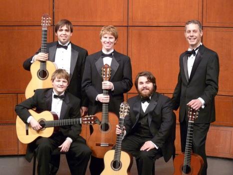 Members of CCM's Classical Guitar Ensemble