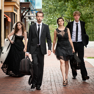 The Ariel Quartet: Amit Even-Tov, Gershon Gerchikov, Alexandra (Sasha) Kazovsky and Jan Grüning.