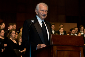 Elmer Thomas at CCM for the occasion of his 80th birthday in October, 2010.
