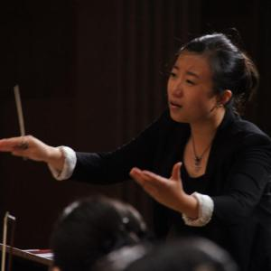 Jing Huan was awarded third prize in China's first Li Delun National Conducting Competition (photo: Ren Xihai)