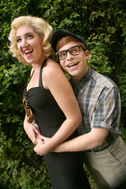 Cassie Levine as Audrey and Lee Slobotkin as Seymour in CCM's Studio Series production of 'Little Shop of Horrors.' Photography by Nik Robalino.