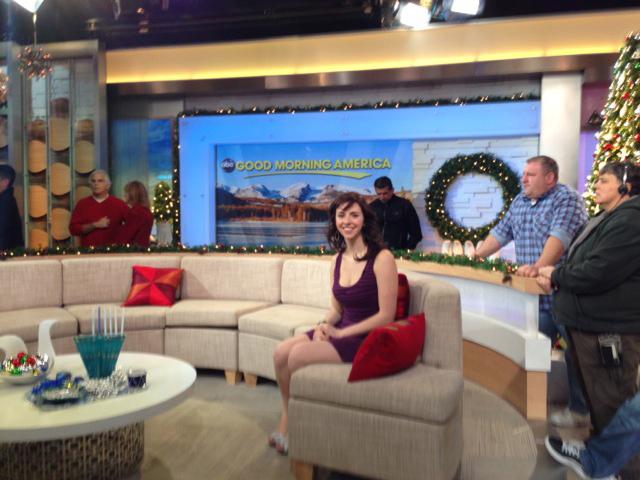 CCM alumna Mia Gentile on the set of 'Good Morning America.'