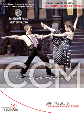 CCM's Spring 2013 Calendar of Events.
