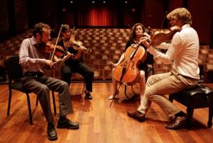 The Ariel String Quartet at CCM. Courtesy of The Enquirer/ Liz Dufour.