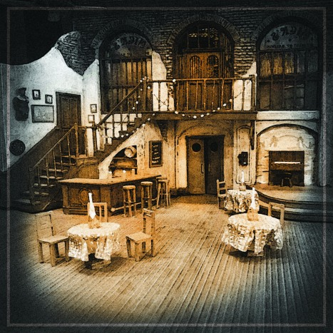 An early look at the set for 'The Time of Your Life' by Scenic Designer Mark Halpin.