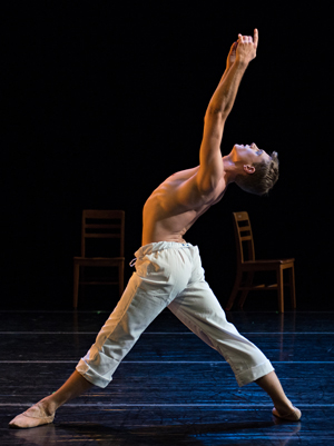 CCM alumnus James Cunningham in Amy Seiwert's 'I Think of You Often.' Photography by Peter Mueller.