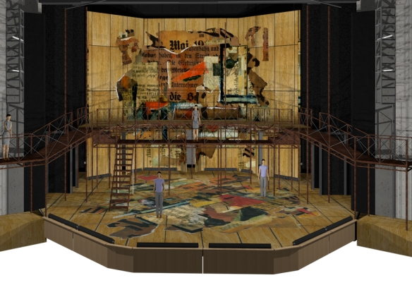 John Arnone's initial set design for CCM's production of 'The Threepenny Opera.'