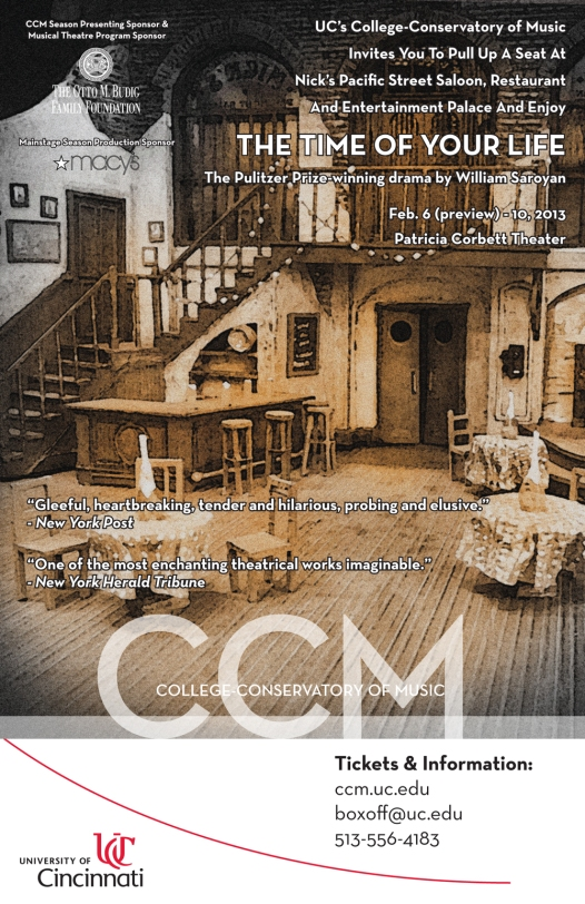 Poster for CCM's 'The Time of Your Life.'