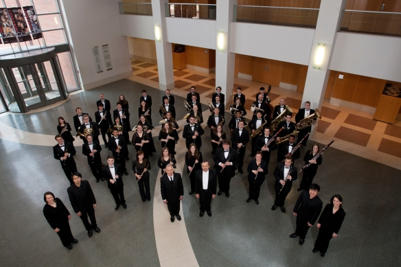 CCM's Wind Orchestra, in concert Thursday, March 14. Photography by Dottie Stover.