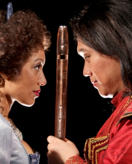 Jacqueline Echols as Pamina and Yi Li as Tamino in CCM's 'The Magic Flute.' Photography by Mark Lyons.