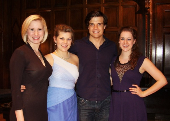 2013 Lotte Lenya Competition winners (left to right): Lauren Roesner, Alison Arnop, Douglas Carpenter, and Maren Weinberger. Photo: Kurt Weill Foundation for Music.