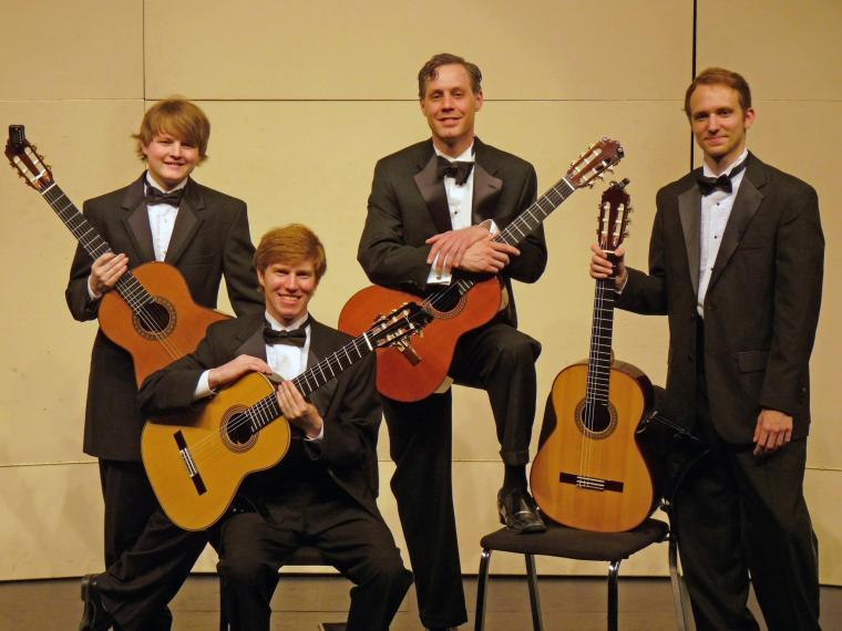 CCM Classical Guitar Ensemble members (left to right) Kirk Redman, Evan Fiehrer, Donald Broerman and Andrew Otte.
