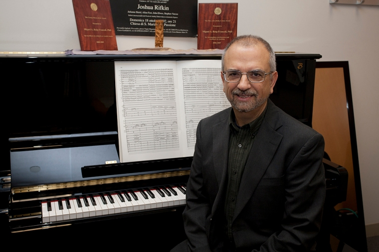 Miguel A. Roig-Francolí Professor, Music Theory & Composition, College-Conservatory of Music. photo/Lisa Ventre