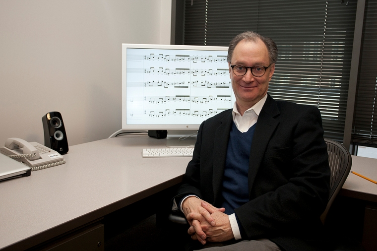 Douglas Knehans Norman Dinerstein Professor of Composition Scholar, College-Conservatory of Music. photo/Dottie Stover