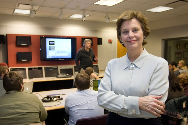 Electronic Media Division Head Marjorie Fox joined the faculty in 1988. She retires this summer.
