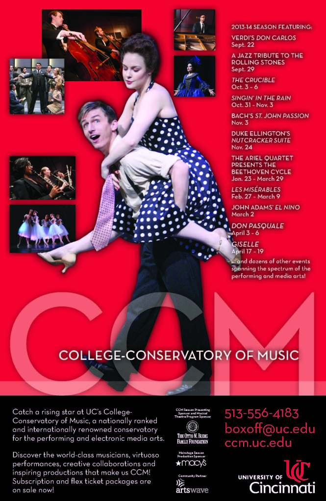 """CCM presents a """"must-see"""" series of performing arts events in 2013-14. Subscription and flex ticket packages are on sale now!"""