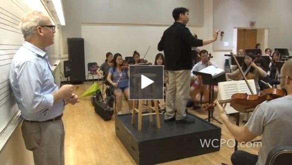 "CCM's ""Realizing Rossini"" summer workshop, featured on WCPO TV."