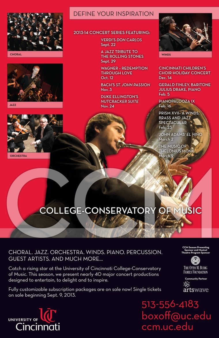 CCM's 2013-14 Concert Series