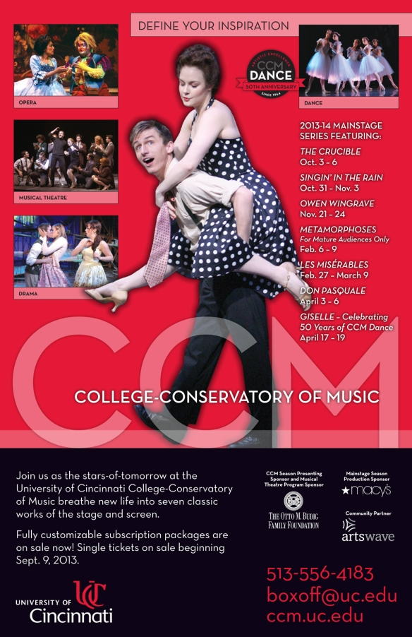 CCM's 2013-14 Mainstage Series