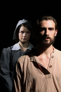 """Joe Markesbery is """"John Proctor"""" and Laura McCarthy is """"Abigail Williams"""" in CCM's 'The Crucible.' Photography by Mark Lyons."""