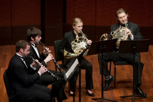Members of CCM's Wind Orchestra. Photography by Dottie Stover.
