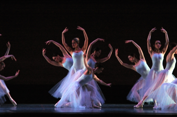 Photograph from 'Serenade' by Rene Micheo. Choreography by George Balanchine, copyright The George Balanchine Trust.