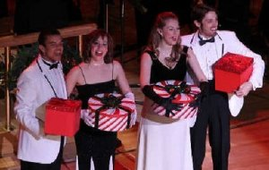 "From left, Blaine Krauss, Kelsey Crismon, Christine Cornish Smith and Nathaniel Irvin will perform at the ""Holiday Pops."""