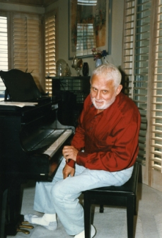 CCM alumnus Albert Hague in his Marina Del Rey living room in 1998.