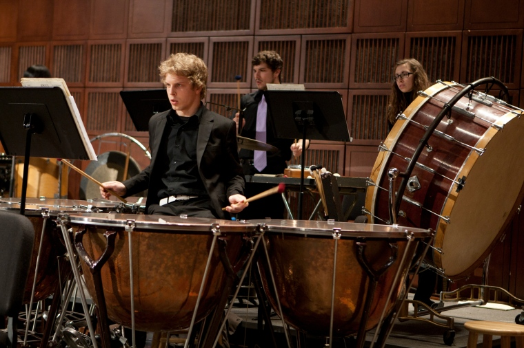 Ty Niemeyer performing with the CCM Philharmonia in 2013. Photography by Dottie Stover.