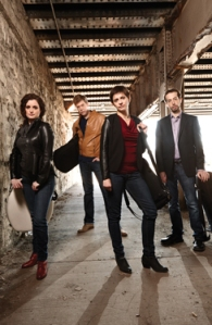 From left to right: Amit Even-Tov, Jan Grüning, Alexandra Kazovsky and Gershon Gerchikov are the Ariel Quartet. Photography by Saverio Truglia.