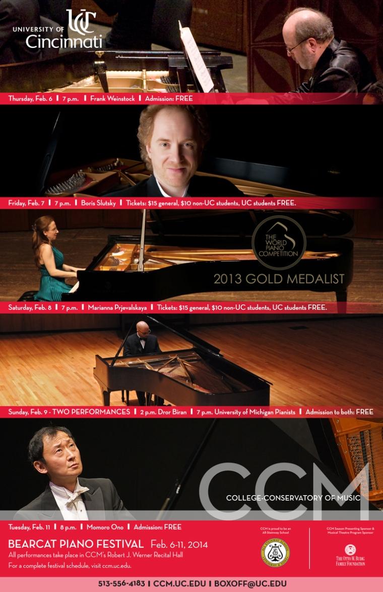 CCM's 2014 Bearcat Piano Festival.