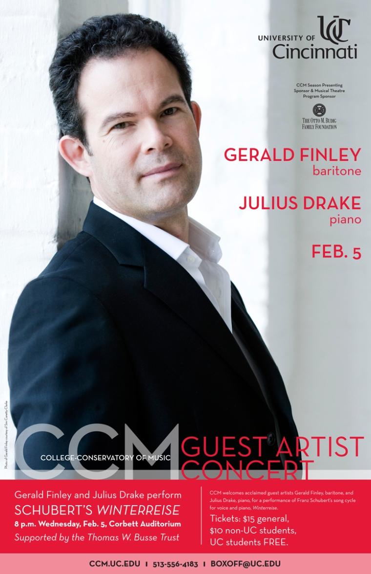 Guest artist Gerald Finley, baritone.