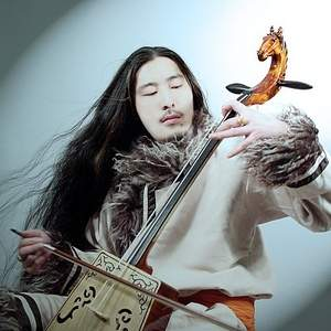 Jin Shan performs the matouqin, or horse-head fiddle.