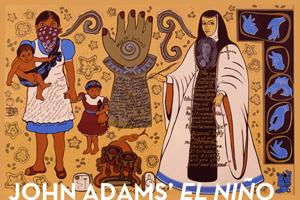"""Mujer de Mucha Enagua, Pa'Ti Xicana"" painting courtesy of Yreina D. Cervántez; Serigraph (SHG), 1999"
