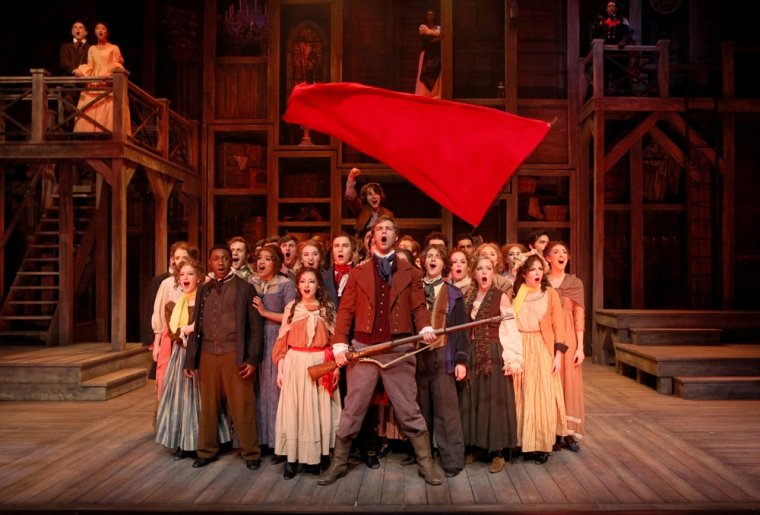 """CCM proudly presents a new production of the iconic musical """"Les Misérables,"""" playing Feb. 27 - March 9, 2014. Photography by Mark Lyons."""