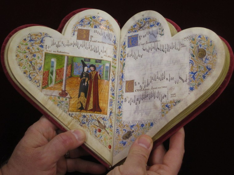Le Chansonnier Cordiforme is perhaps the most beautiful of all surviving music manuscripts.