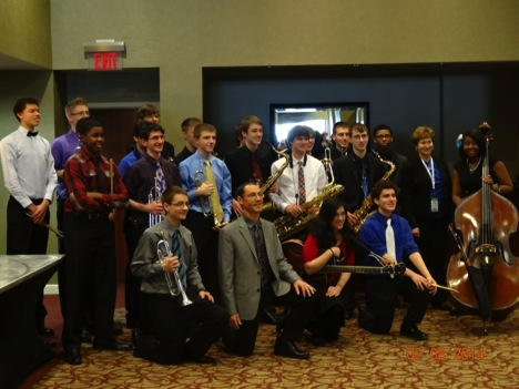 The 2014 All-State Jazz Ensemble.