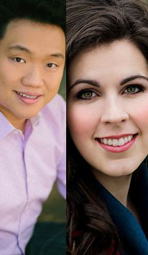 From left to right, CCM alumni Yi Li and Amanda Woodbury.