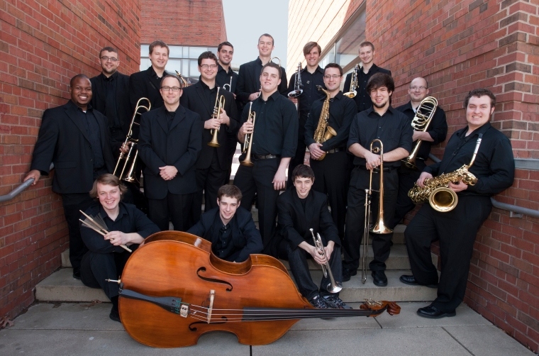 Professor Scott Belck and the CCM Jazz Ensemble. Photography by Dottie Stover.