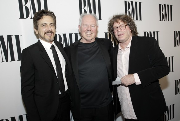 CCM alumnus Randy Edelman (far right) with composers Michael Penn and George S. Clinton at the 2014 BMI Film/TV Awards.