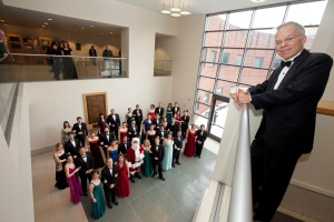 Professor Earl Rivers with CCM's Chamber Choir and Chorale.